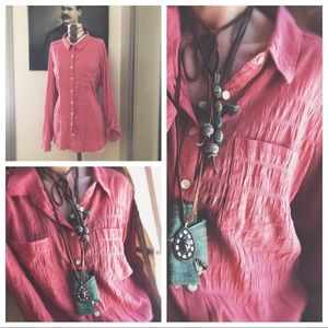 Button Down With Vintage Buttons